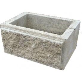 Блок декоративный столбовой 300х400 мм серый