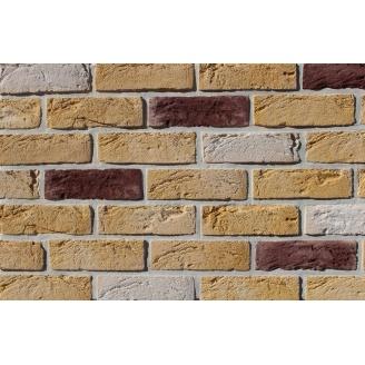Фасадна плитка Loft Brick Тоскана Темно-коричневий з сіллю 210x65 мм