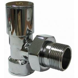 """Кран вентильный SD FORTE для полотенцесушителя угловой 1/2"""""""