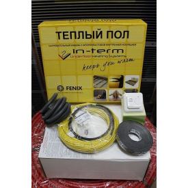 6,6 м2 Теплый пол электрический IN-TERM тонкий кабель греющий