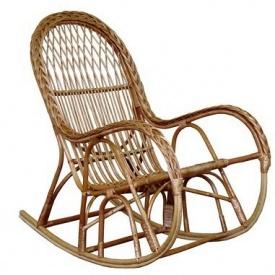 Плетенное кресло-качалка КК-4/3 ЧФЛИ 600х650х1200 мм из лозы