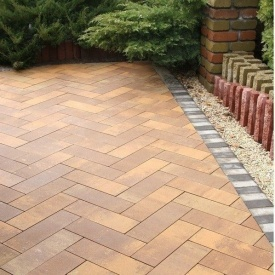 Тротуарна плитка Золотий Мандарин Паркет 450х150х60 мм марселла
