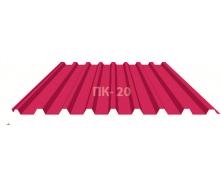Профнастил Индастри ПС 20 цинк 910/1145 мм 0,4х1250 мм красный