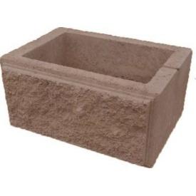 Блок заборный для столба рваный камень 300х400 мм коричневый