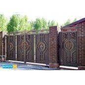 Распашные кованые ворота 6000х2000 мм