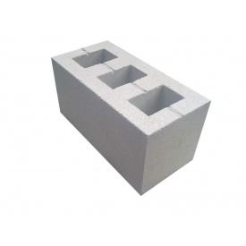 Шлакоблок бетонный 390х190х190 мм серый