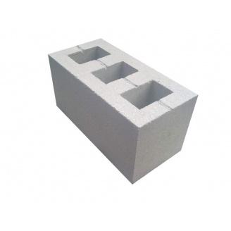 Шлакоблок бетонний 390х190х190 мм сірий