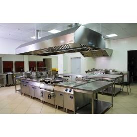 Установка вентиляції в гарячому цеху кухні