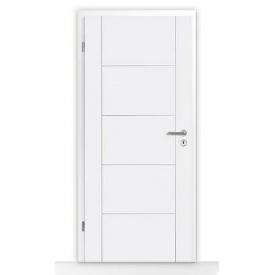 Внутренние деревянные двери Hormann DesignLine мотив Groove 13 735х1985 мм лак белый