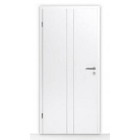 Внутренние деревянные двери Hormann DesignLine мотив Groove 23 735х1985 мм лак белый