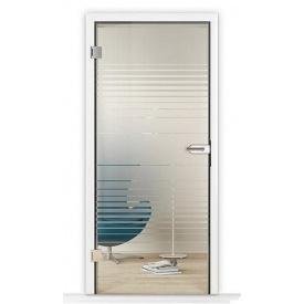 Внутренние стеклянные двери Hormann GlassLine мотив GlassLine Raff 709х1972 мм