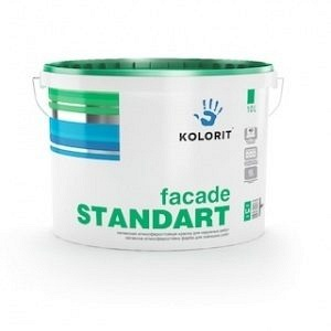 Краска Kolorit Fasade Standart база А 9 л