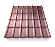 Металлочерепица Ruukki RanTech DG 43 PM polyester matt шоколадный