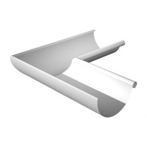 Кут ринви внутрішній Ruukki 90 градусів 150 мм білий