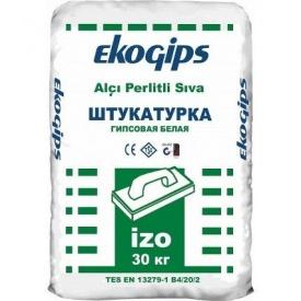 Стартова гіпсова шпаклівка Ізогіпс Екогіпс 30 кг