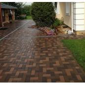 Тротуарная плитка Кирпичик 20х10х4 см коричневый