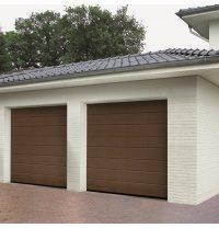 Ворота гаражные секционные Hormann RenoMatic 2500x2125 мм sandgrain RAL 8028 коричневый