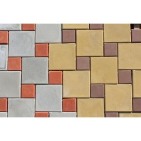 Тротуарная плитка Антик 10х20х4,5 см серый