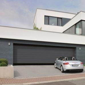 Ворота гаражні секційні Hormann RenoMatic 2750x2500 мм sandgrain RAL 7016 сірий антрацит