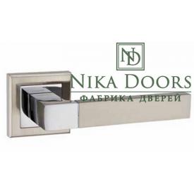 Дверна ручка на розетці MVM TREND A-2004 SN/CP полирований хром