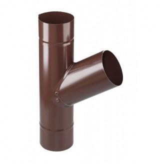 Тройник трубы Devorex Classic 67 градусов 80 мм коричневый