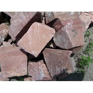 Камень бутовый кварцит малиновый