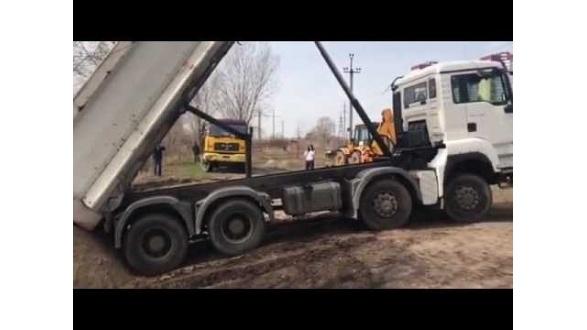 Благоустройство территорий. Восстановление песчаного покрова (оз. Небреж, Киев)