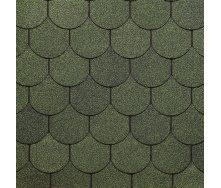 Битумная черепица Docke PIE SIMPLE КОЛЬЧУГА 1000х333х2,9 мм зеленый