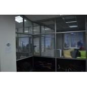 Комбінована офісна перегородка з підвищеною шумоізоляцією