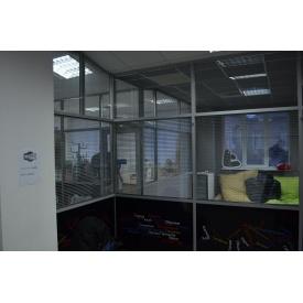 Комбинированная офисная перегородка с повышенной шумоизоляцией