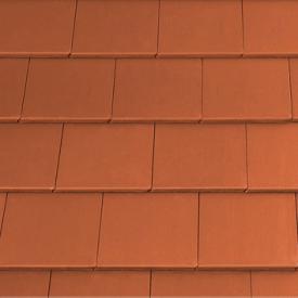 Цементно-піщана черепиця EURONIT Kapstadt 334х420 мм натуральний червоний (00572)