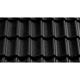 Цементно-піщана черепиця EURONIT Duratop Pro Profil S 334х420 мм чорний (00563)
