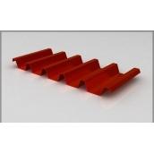 Профнастил ЕвроСтрой ПС-44 0,5 мм цинк/полимер (Словакия) красный