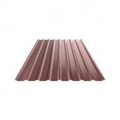 Профнастил ЕвроСтрой ПС-44 0,5 мм цинк/полимер (Словакия) коричневый
