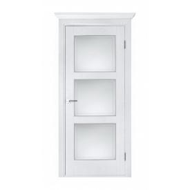 Дверь межкомнатная Белоруссии Лестница ПО 600x2000 мм белый ясень