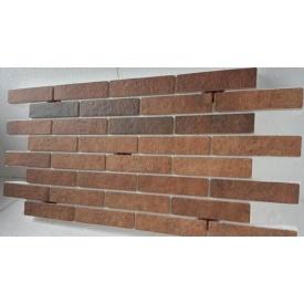 Термопанель з фасадною плиткою керамограніт Golden Tile BrickStyle Seven Tones 1000x600 мм оранж