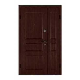 Дверь входная Двери Белоруссии Вена 1200x2040х70 мм вишня дымчатая