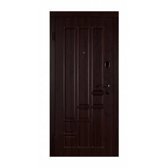 Дверь входная Двери Белоруссии Титан 880x2040х70 мм темный орех