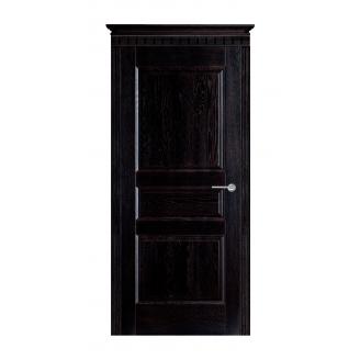 Дверь межкомнатная Двери Белоруссии 5-Д ПГ 600x2000 мм черная патина