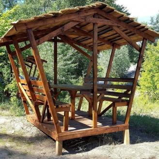 Беседка деревянная 3195х2670 мм