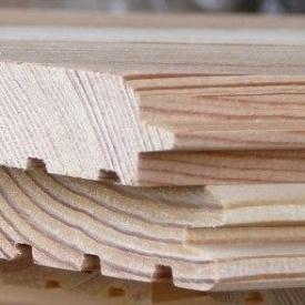 Фальш-брус сосновый 135x18 мм