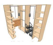 Изготовление гардеробной комнаты с проектированием