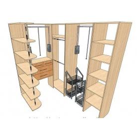 Виготовлення гардеробної кімнати з проектуванням