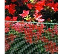 Сітка для огорожі декоративна Tenax Quadra 9x9 мм 0,5x50 м зелена