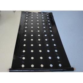 Пленка мульчирующая с перфорацией Е1103 25 мкм 1,2x1000 м черная