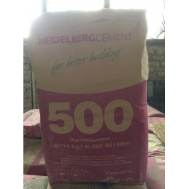 Цемент Хайдельберг пц I-500 д 0 25 кг