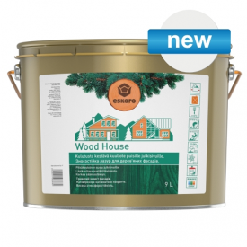 Зносостійка лазур для дерев'яних фасадів Eskaro Wood House 9 л