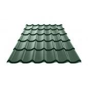 Металлочерепица Ruukki Monterrey Polyester Matt 0,5 мм темно-зеленый