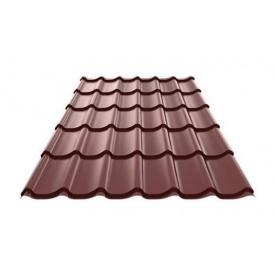 Металочерепиця Ruukki RanTech Monterrey Polyester Matt 0.45 мм Шоколадний