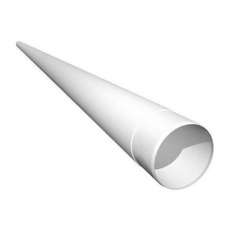 Труба водосточная Ruukki 100 мм 4 м белый